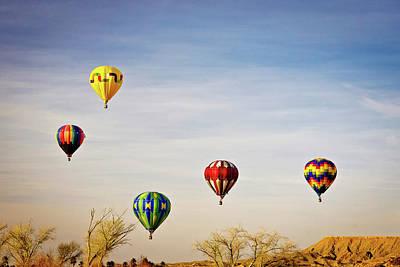 Photograph - Hot Air Balloons, Mesquite Nevada by John Morris