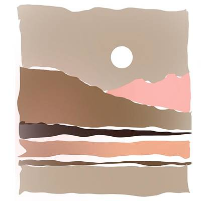 Target Threshold Watercolor - Hot Desert Scene by Luisa Millicent
