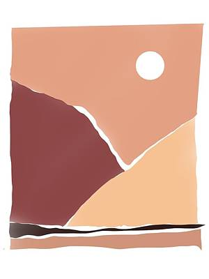 Priska Wettstein Land Shapes Series - Hot Hot Desert. by Luisa Millicent