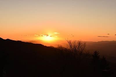 Mellow Yellow - Hot Mountain Sunset by RD Erickson