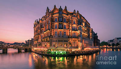 Photograph - Hotel L'europe, Amsterdam, Netherlands by Henk Meijer Photography