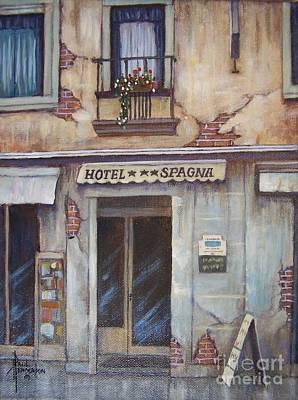 Rose - Hotel Spagna-Venice by Paul Henderson