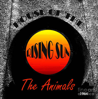 Animals Royalty-Free and Rights-Managed Images - House of the rising sun Animals retro album cover 1964 by David Lee Thompson