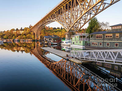 From The Kitchen - Houseboats Below the Aurora Bridge Reflected by Mike Reid