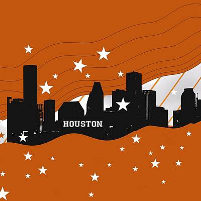 Sports Royalty-Free and Rights-Managed Images - Houston sportibe skyline. by Alberto RuiZ