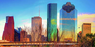 Royalty-Free and Rights-Managed Images - Houston Texas Cityscape and Skyline Panorama by Gregory Ballos