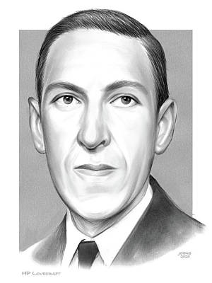 Drawings Royalty Free Images - HP Lovecraft Royalty-Free Image by Greg Joens