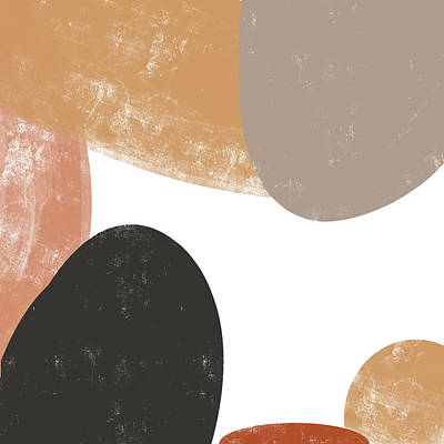 Royalty-Free and Rights-Managed Images - Hues of the Earth 3 - Contemporary Abstract Painting - Minimal, Modern - Brown, Sienna, Umber, Tan by Studio Grafiikka
