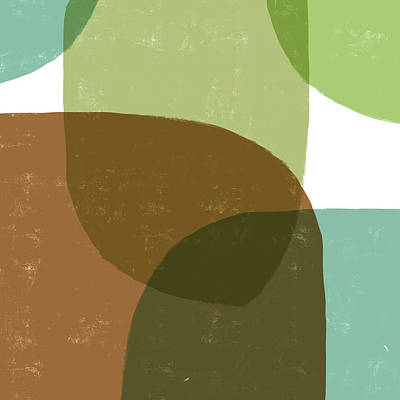 Mixed Media Royalty Free Images - Hues of the Earth - Contemporary Minimal Abstract Painting - Modern Art - Brown, Green Royalty-Free Image by Studio Grafiikka
