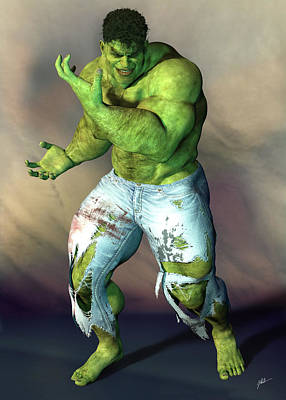 Animal Portraits - Hulk, hipster, number 103 by Joaquin Abella