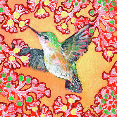 Royalty-Free and Rights-Managed Images - Hummingbird in Flight by Jennifer Lommers
