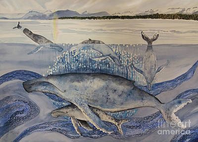Painting - Humpback and Herring by Michelle Curry