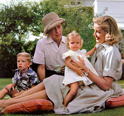 Impressionist Landscapes - Humphrey Bogart and Lauren Bacall, at home, with their children Stephen and Leslie - Beverly Hills,  by Celestial Images