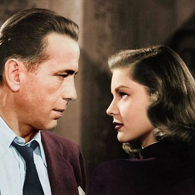 Sheep - Humphrey Bogart and Lauren Bacall colorized by Stars on Art