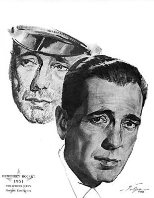 Drawings Royalty Free Images - Humphrey Bogart by Volpe Royalty-Free Image by Stars on Art