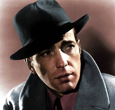 Sheep - Humphrey Bogart colorized by Stars on Art