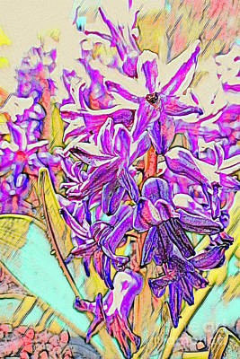 Mixed Media Royalty Free Images - Hyacinthine Rendering Royalty-Free Image by Bentley Davis