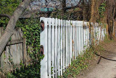 Photograph - Hyde Park Alley Bench by Doug LaRue