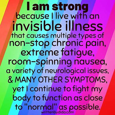 Digital Art - I am strong rainbow block by Written by Dida Candida Reece
