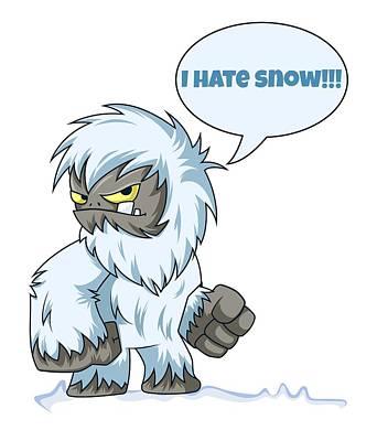 Digital Art - I Hate Snow by Kristjan Cubranic