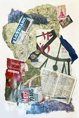 Mixed Media - I Heart Paris by Jessica Levant