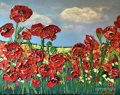 Relief - I Love Poppies by Pam Fries