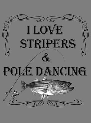 Mixed Media Royalty Free Images - I love stripers Royalty-Free Image by Paul Kyriakides
