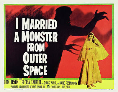 Personalized Name License Plates - I Married a Monster From Outer Space, 1953 by Stars on Art