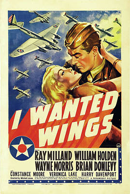Personalized Name License Plates - I Wanted Wings, with Ray Milland and William Holden, 1941 by Stars on Art