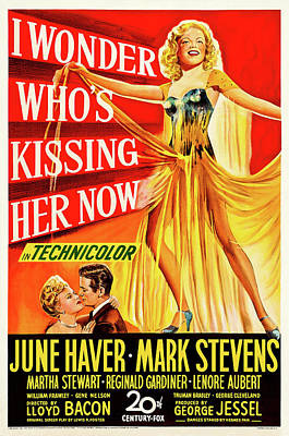 Royalty-Free and Rights-Managed Images - I Wonder Whos Kissing Her Now, with June Haver and Mark Stevens, 1947 by Stars on Art
