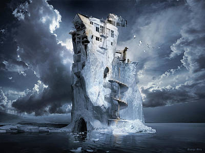 Digital Art - Ice Age Premonition by George Grie