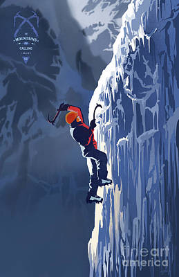 Royalty-Free and Rights-Managed Images - Ice Climber by Sassan Filsoof