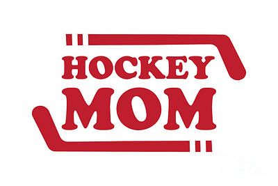 Sports Royalty-Free and Rights-Managed Images - Ice Hockey Mom Red by College Mascot Designs