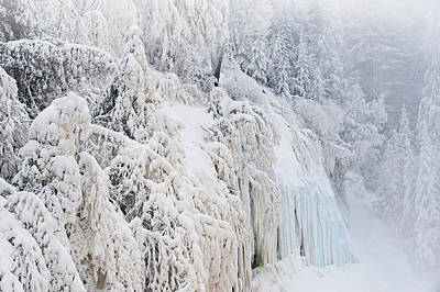 Olympic Sports - Iced Cliff Tahquamenon Falls by Dean Pennala