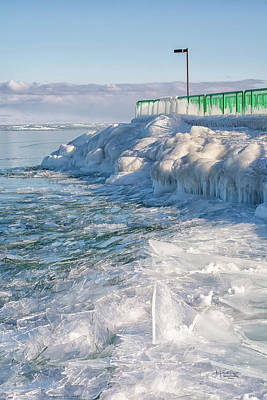 Photograph - Iced shoreline by Allyson Schwartz