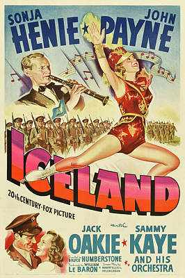 Personalized Name License Plates - Iceland, with Sonja Henie and John Payne, 1942 by Stars on Art
