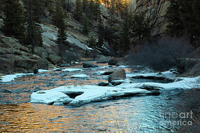 Steven Krull Royalty-Free and Rights-Managed Images - Icy South Platte River Reflections by Steven Krull