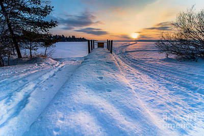 Royalty-Free and Rights-Managed Images - Icy Sunrise on Bear Lake by Twenty Two North Photography