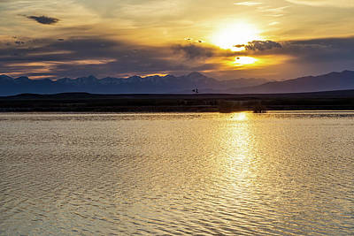 City Lights - Idaho Sunset by Michael Chatt