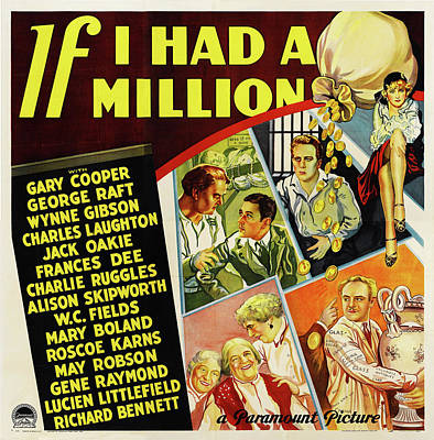 Travel - If I Had a Million, with Gary Cooper and George Raft, 1932 by Stars on Art