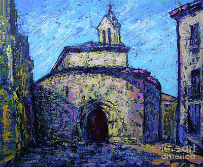 Abstract Oil Paintings Color Pattern And Texture - Iglesia de San Marcos in Salamanca by Denys Kuvaiev