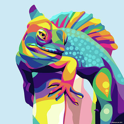 Royalty-Free and Rights-Managed Images - Iguana by Stars on Art