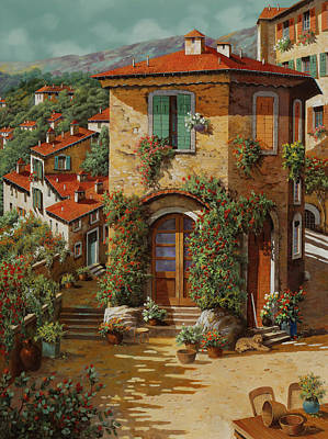 Royalty-Free and Rights-Managed Images - Il Cielo Verdolino In Ottobre Novembre 2019 by Guido Borelli