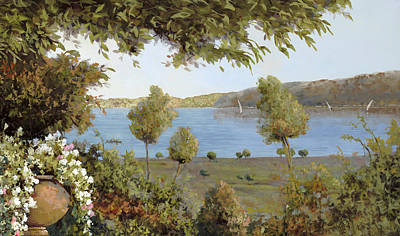 Royalty-Free and Rights-Managed Images - Il Lago Azzurro by Guido Borelli