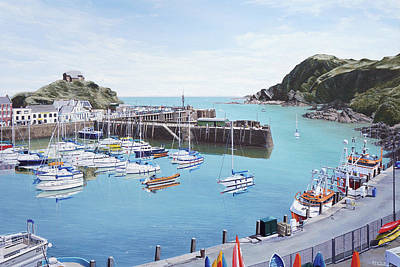 Painting - Ilfracombe Harbour in Summertime by Mark Woollacott