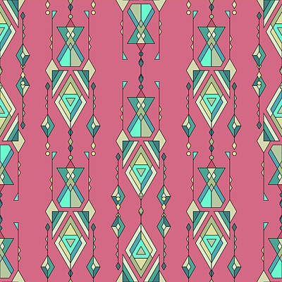 Royalty-Free and Rights-Managed Images - illustration Tribal vintage ethnic seamless pattern. Aztec, mexican, navajo, african motif by Julien