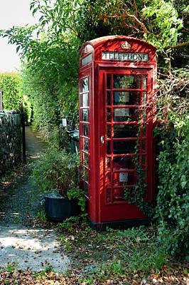 Photograph - Ilsington Red Telephone Box Dartmoor by Helen Northcott