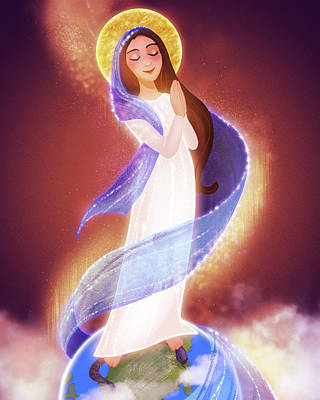 Digital Art - Immaculate Conception by Amy Rodriguez