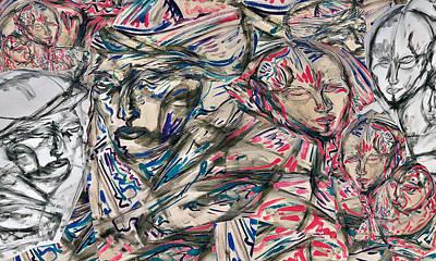 Digital Art - Immigrant Farewell mural idea by Jimmy Longoria