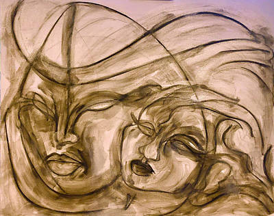 Pastel - Immigrante Crossing by Jimmy Longoria